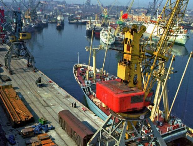 в порту Усть-Луга